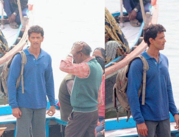 आनंद कुमार बन बनारस की गलियों में घूमते ॠतिक रोशन को पहचान पाना मुश्किल है