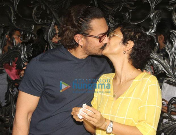आमिर खान ने खुलेआम किरण राव के होठों पर किस कर किया मनाया अपना बर्थडे
