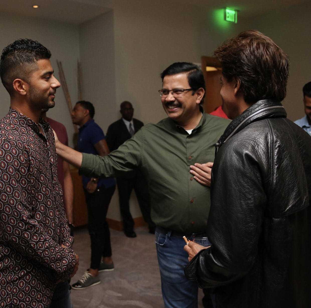 शाहरुख खान सीपीएल 2018 में अपनी टीम को सपोर्ट करने त्रिनिदाद और टोबैगो पहुंचे