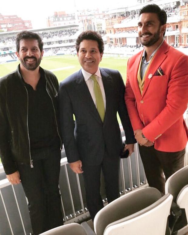 रणवीर सिंह ने कबीर खान की 83 की तैयारी के लिए लॉर्ड्स स्टेडियम में सचिन तेंदुलकर से मुलाकात की
