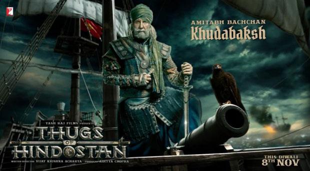 ठग्स ऑफ़ हिंदोस्तान : समुद्री डाकू 'खुदाबक्श' के रूप में अमिताभ बच्चन ने किया इंप्रेस