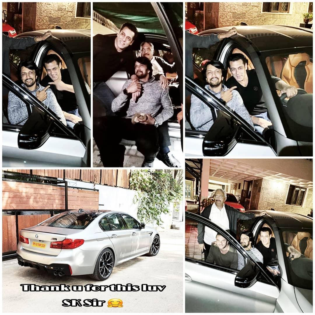 सलमान खान ने दबंग 3 के विलेन किच्चा सुदीप को गिफ़्ट की 1.55 करोड़ रु की BMW M5