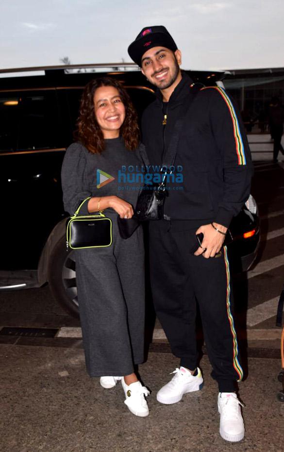 Photos: हिना खान, नेहा कक्कड़, रोहनप्रीत सिंह और राहुल देव एयरपोर्ट पर नजर आए