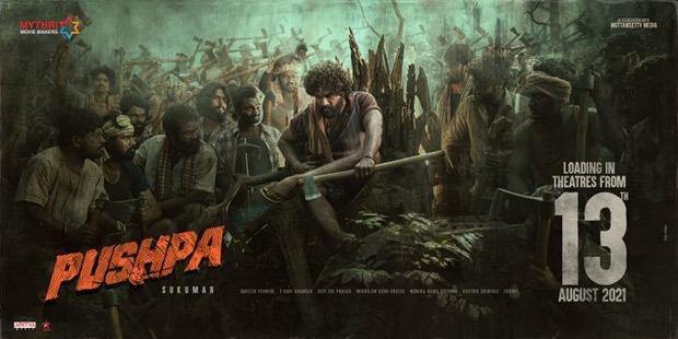 अल्लू अर्जुन की आगामी फ़िल्म पुष्पा 13 अगस्त को थिएटर में 5 भाषाओं में होगी रिलीज