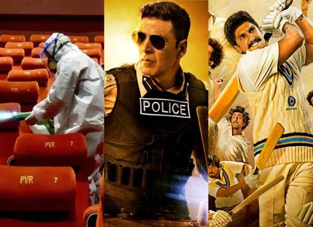 महाराष्ट्र में 22 अक्टूबर से फ़िर से खुलेंगे सिनेमाघर ; थिएटर में रिलीज होने वालीं अक्षय कुमार की सूर्यवंशी, रणवीर सिंह की 83 समेत कई बड़ी फ़िल्मों की नई रिलीज डेट जल्द होगी अनाउंस