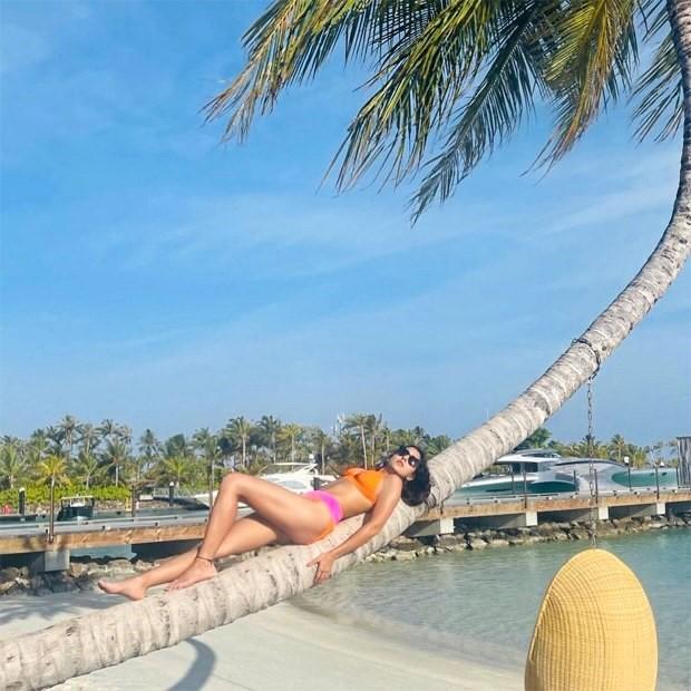 मालदीव में सारा अली खान ने टू टोन बिकिनी में फ़्लॉन्ट किया अपना सेक्सी फ़िगर, फ़ैंस हुए दीवाने